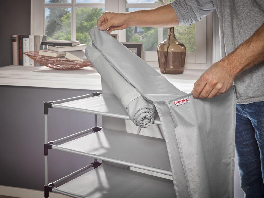 Textil schuhschrank cabinet grau leifheit 80006 leifheit for Schuhschrank groay